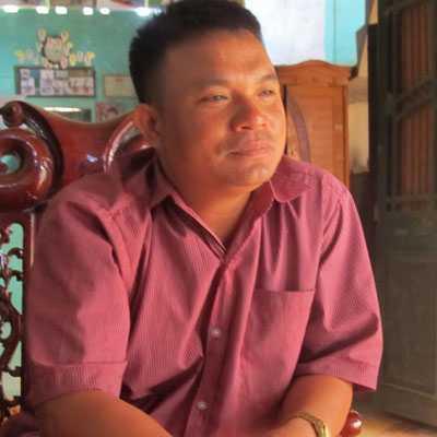 Ông Nguyễn Minh Chiến, trưởng khu Phố Chấu