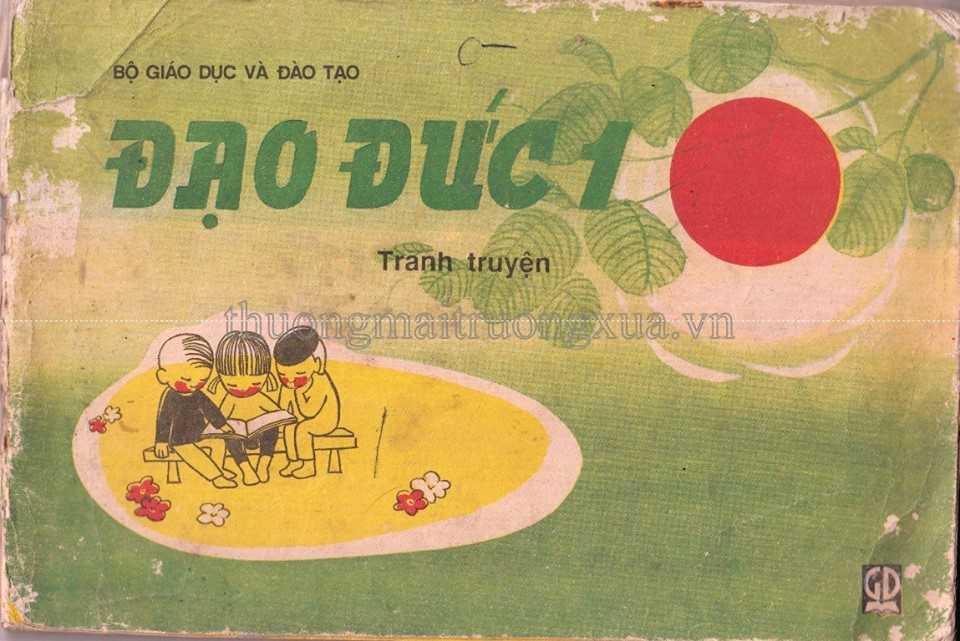 Hình ảnh bìa cuốn sách Đạo đức lớp 1 khiến các bạn trẻ 8X, 9X đời đầu không bao giờ quên