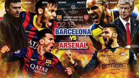 Arsenal đã để thua Barca 0-2 ở lượt đi