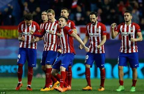 Atletico vừa vào tứ kết đêm qua sau loạt sút luân lưu nghẹt thở