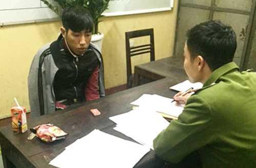 Nguyễn Xuân Tình tại cơ quan điều tra.