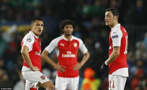 Arsenal tiếp tục bị Barca đánh bại