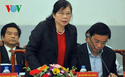 Bà Nguyễn Thị Nương, Trưởng ban Công tác đại biểu Quốc hội