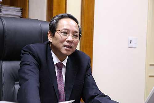 Ông Hoàng Đăng Quang, Bí thư Tỉnh ủy Quảng Bình trong cuộc trao đổi với VnExpress. Ảnh: Hoàng Táo.