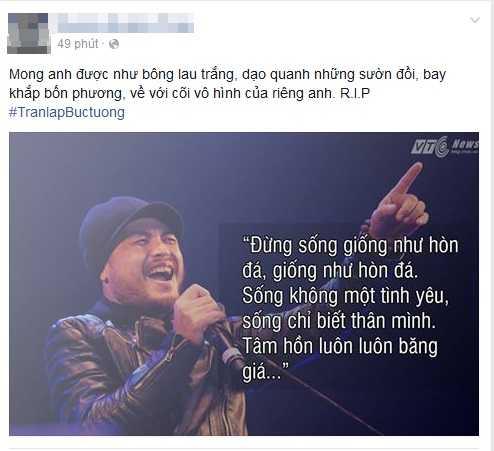 Người hâm mộ chia sẻ nỗi đau khi nam nhạc sỹ qua đời quá sớm