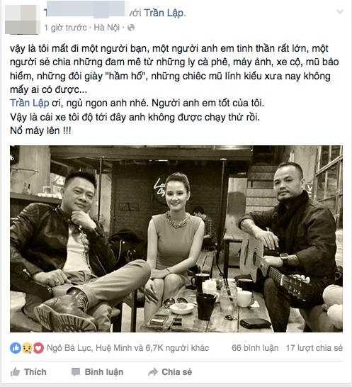 Người dẫn chương trình Quang Minh cũng chia sẻ sự mất mát đối với người bạn, người anh em tinh thần (Ảnh chụp màn hình)