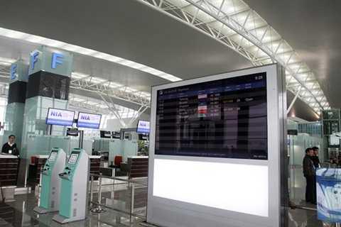 Các bảng điện tử cung cấp thông tin chuyến bay