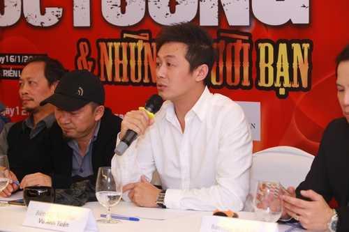 MC Anh Tuấn tại buổi họp báo giới thiệu liveshow