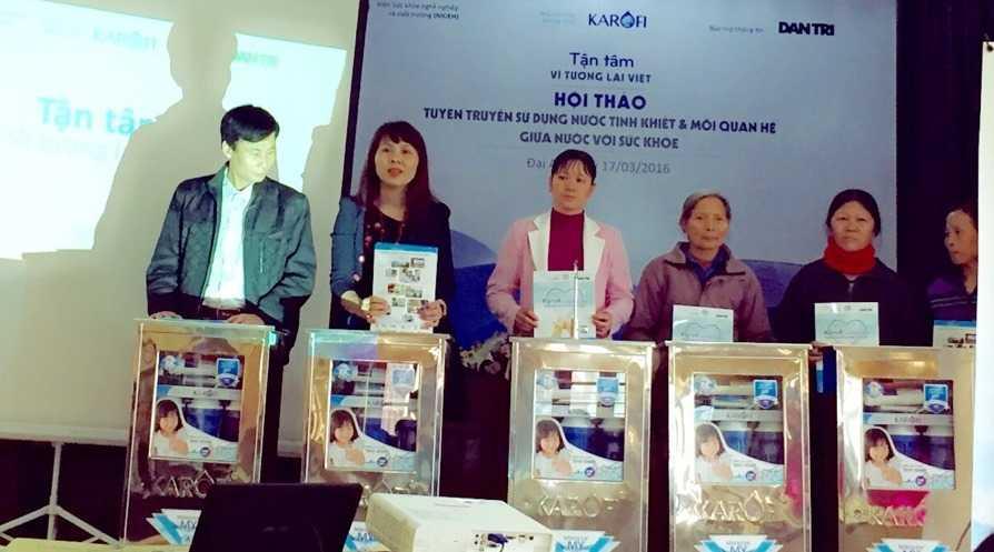 30 chiếc máy lọc nước được trao tặng tại là loại máy Karofi 7 cấp lọc