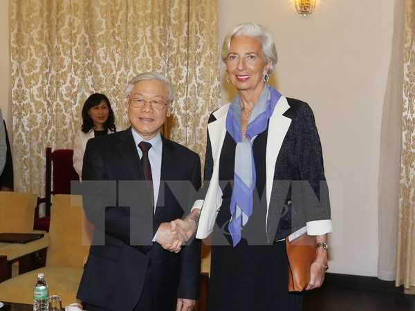 Tổng Bí thư Nguyễn Phú Trọng tiếp Tổng Giám đốc IMF Christine Largarde