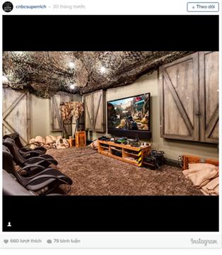 Căn phòng được thiết kế riêng để chơi game này thuộc một biệt thự có giá 35 triệu USD