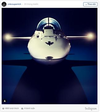 Máy bay dưới nước là một trong những thú chơi mới của giới siêu giàu. Nó có giá 1,7 triệu USD.