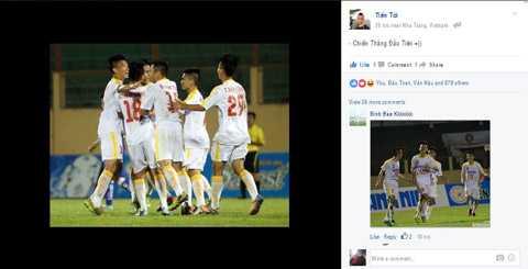 Các cầu thủ trẻ Hà Nội T&T hứng chí với thắng lợi đầu tiên tại VCK U19 Quốc gia (Ảnh chụp màn hình)