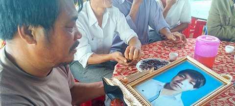 Hình ảnh Tân đã mất được gia đình cung cấp khi trao đổi cùng PV.