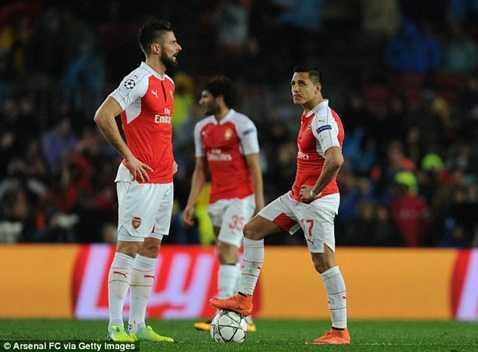 Arsenal chỉ còn Premier League để hy vọng