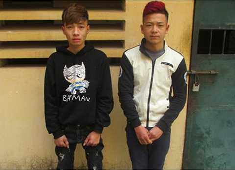 Hai đối tượng Nguyễn Văn Chiến và Nguyễn Đức Tuấn bị Công an huyện Đông Anh (Hà Nội) bắt giữ về hành vi giết người.