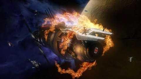 NASA sắp thử nghiệm đốt tàu vũ trụ trong không gian. Ảnh minh họa: Wallpaperup
