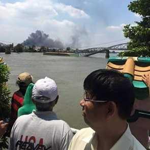 Thảm hoạ kép ở TP Biên Hoà trưa 20/3/2016 Ảnh: Minh Nguyen