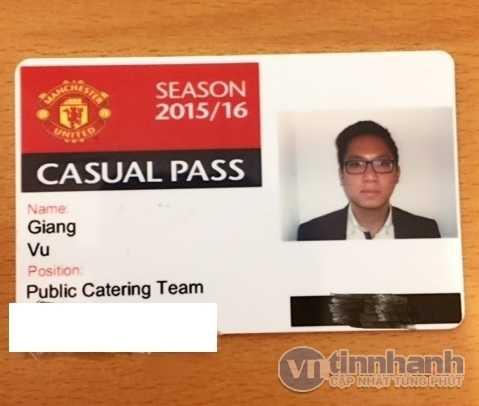 Thẻ nhân viên của Giang tại MU