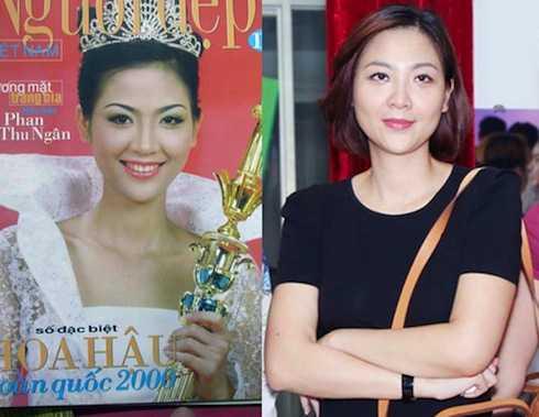 16 năm sau ngày đăng quang, nhan sắc được đánh giá là hoàn hảo của Phan Thu Ngân có phần suy suyển.