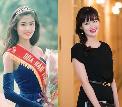 Hoa hậu Thu Thuỷ có nhan sắc thay đổi theo thời gian.