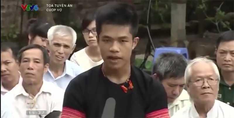 Nhân vật Sồng A Sua trong chương trình Tòa tuyên án trên kênh VTV6
