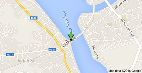 Sơ đồ cầu Ghềnh bắc qua sông Đồng Nai