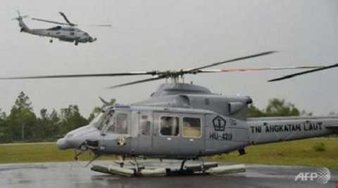 Trực thăng quân sự Bell-420 của Indonesia (Ảnh: AFP)