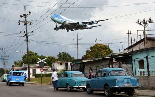 Chuyên cơ của Tổng thống Mỹ đến Havana, Cuba