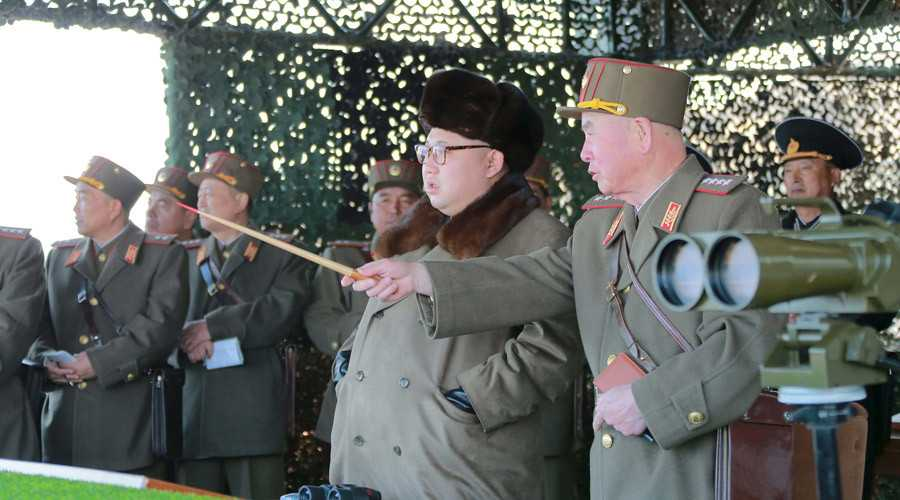 Chủ tịch Triều Tiên Kim Jong-un thị sát quân đội