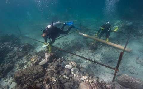 Xác tàu đắm là tàu Esmeralda bị đánh chìm cách đây 500 năm tại bờ biển Oman, Ả Rập