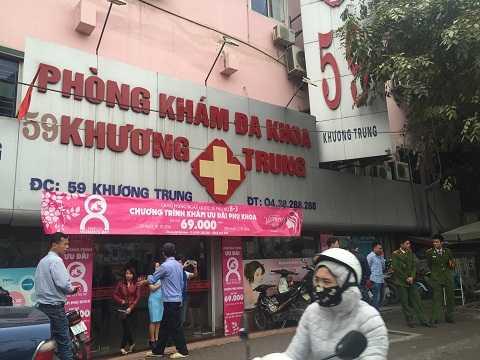 Phòng khám Khương Trung nơi xảy ra vụ việc