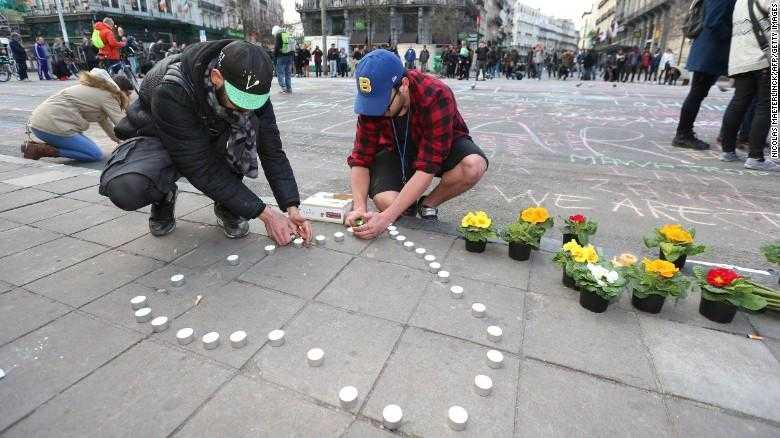 Người dân Bỉ tưởng nhớ nạn nhân vụ đánh bom