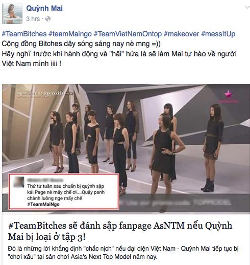 Quỳnh Mai không ngăn cản mà chỉ khuyên fan nghĩ kỹ trước khi hành động, và có lời hô hào gây khó hiểu.