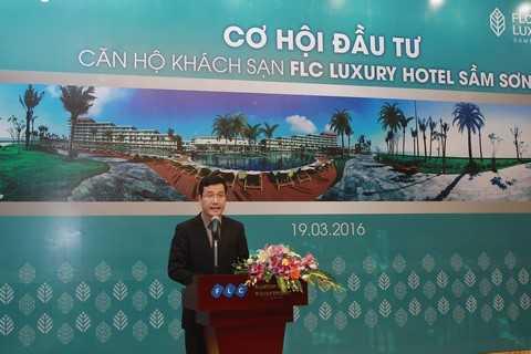 Ông Đào Đức Dũng – Phó Ban kinh doanh Tập đoàn FLC chia sẻ cơ hội khai thác lợi nhuận khi chọn mua FLC Luxury Hotel Sầm Sơn