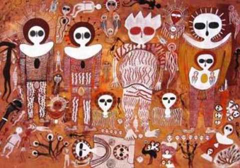 Những hình ảnh của Wondjima thường được vẽ dạng đầu người với đôi mắt to