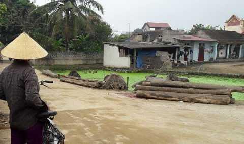 Hiện trường nơi Nguyễn Văn Lợi ra tay giết vợ cũ.
