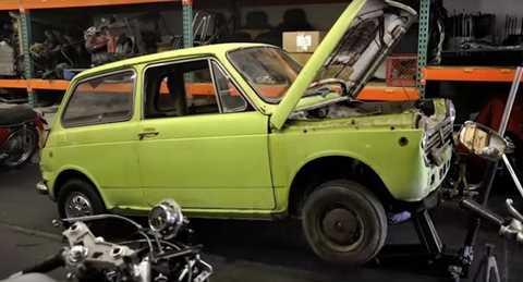 Chiếc xe đầu tiên của thương hiệu Honda nhập khẩu vào Mỹ năm 1967 được tìm thấy và phục chế nguyên bản để đưa vào bảo tàng Honda