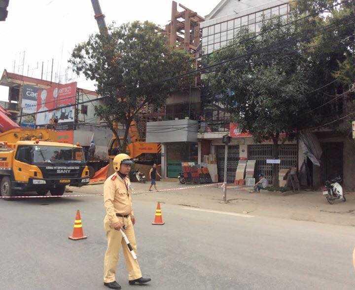 Lãnh đạo Công an thành phố Hà Tĩnh khẳng định không có chuyện CSGT 'chặn đường để 'đại gia' dựng nhà'. Ảnh: Facebooker Vu Hai Tran