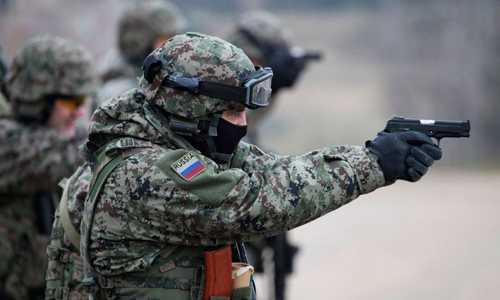 Một thành viên lực lượng đặc nhiệm Spetsnaz Nga. Ảnh: Pinterest