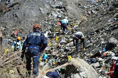 Hiện trường thảm khốc của vụ tai nạn Germanwings