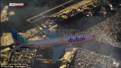 Video cho thấy chiếc máy bay của FlyDubai đã chòng chành vì gió lớn
