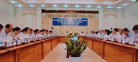 Hội nghị tổ chức tại UBND TP.HCM ngày 24/3/2016. Ảnh: Phan Cường