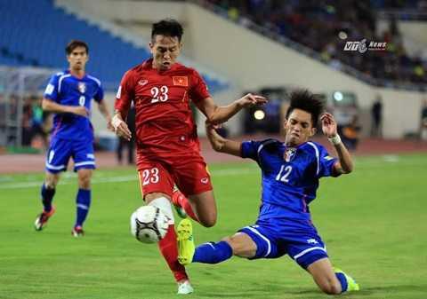 Trận đấu Việt Nam vs Đài Loan tưng bừng ngay từ phút đầu