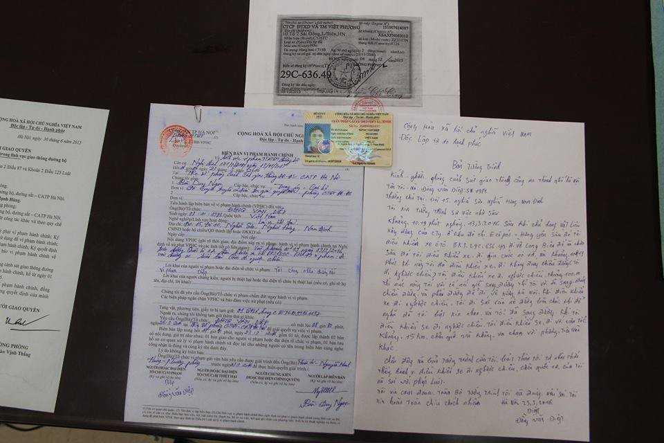 Ngoài 1 triệu đồng nộp phạt, tài xế Diệp bị tước giấy phép lái xe 1 tháng.
