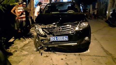Chiếc xe do ông Hùng điều khiển gây tai nạn liên hoàn