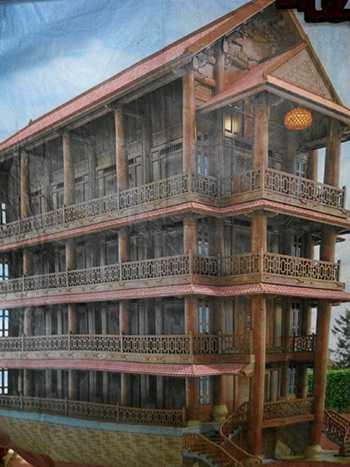 Phối cảnh ngôi nhà gỗ sau khi hoàn thành.