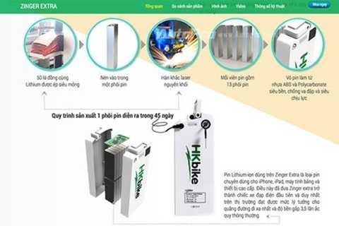 Theo quảng cáo của HKBike, mẫu pin Lithium của Zinger Extra cũng an toàn hơn loại ắc quy thông thường.
