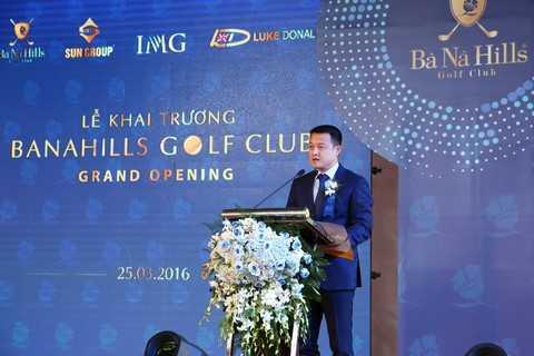 Ông Đặng Minh Trường, Tổng Giám Đốc Tập Đoàn Sun Group, phát biểu tại sự kiện.