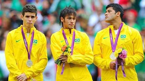 Neymar từng giành huy chương bạc tại Olympic London 2012